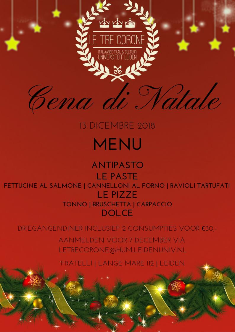 Cena Di Natale Studievereniging Le Tre Corone